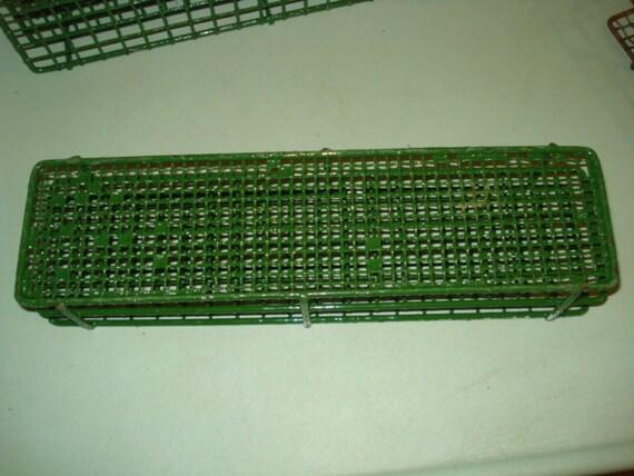 Vintage Green Wire Test Tube Holder