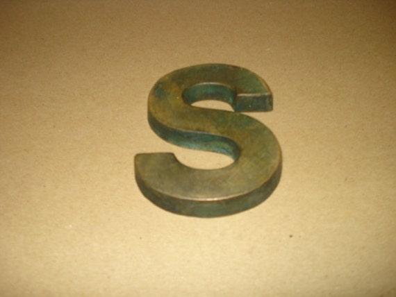 Vintage Bronze Letter S