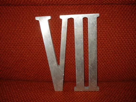 Vintage Aluminum Roman Numeral Vii 7