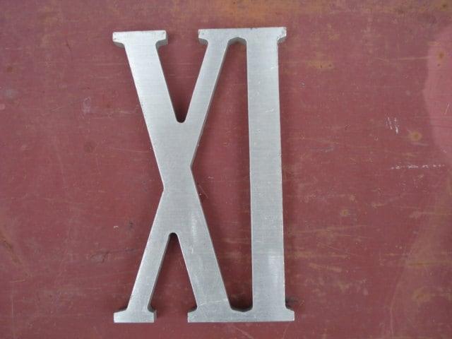 Vintage Aluminum Roman Numeral Ix Or 9 Roman Numeral Xi Or 11