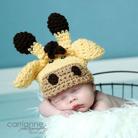 CROCHET Hat PATTERN Giraffe Beanie All sizes by RAKJpatterns