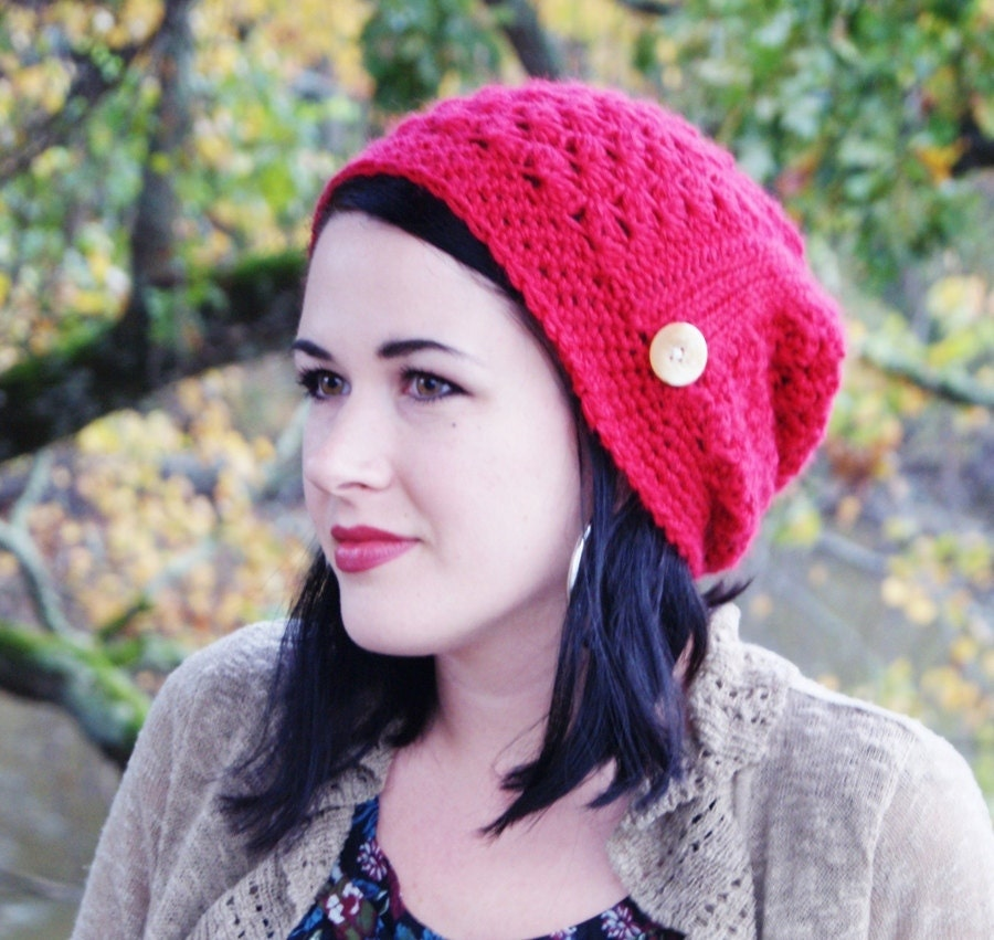 Crochet Hat Pattern Stephanie Slouchy Beanie by RAKJpatterns