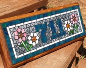 RESERVED LISTING for Kelly Sawyer - Personalized Mosaic Outdoor Sign / Plaque  - Name or Address