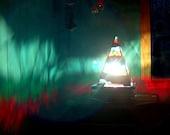 Mosaic Lamp - Aurora Borialis - Abstract Art