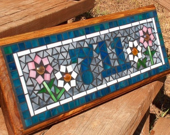 Personalized Mosaic Outdoor Sign / Plaque  - Name or Address