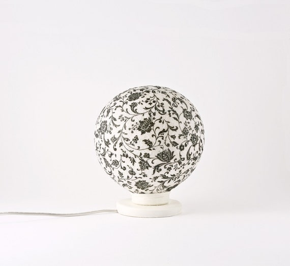 Table lamp, accent lamp, night light Black Romance by FiligreeCreations on Etsy