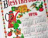 Bless This House Calendar Dish Towel