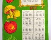 Kitchen Prayer Calendar Dish Towel