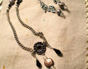 Dark Charm with Matching Earrings