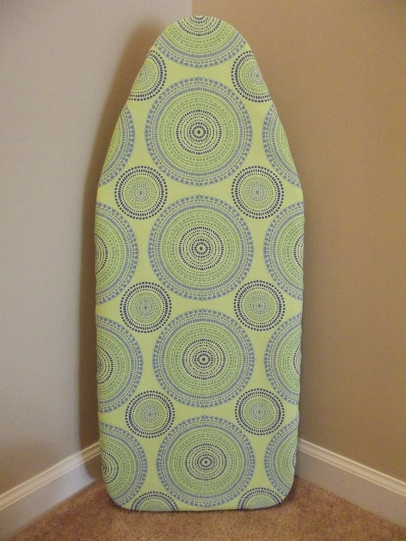 tabletop ironing board cover with pad blue and green. Black Bedroom Furniture Sets. Home Design Ideas