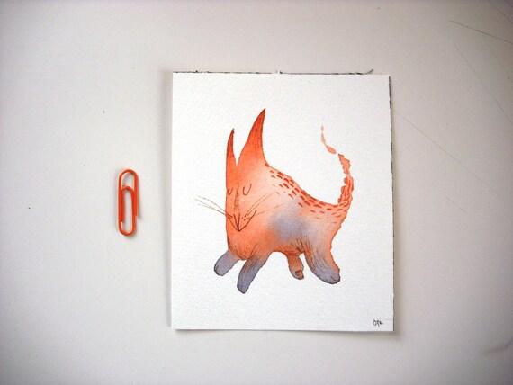 Little Monster mini painting 4x3.5