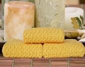 Spa Quality Cotton Washcloths in Lemon Zest (yellow)