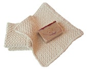 Spa Quality Cotton Washcloths in Natural Ecru