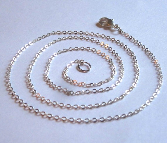 "24"", 26"", or 28"" Silver Plated Chain For Necklace - Lobster Clasp"