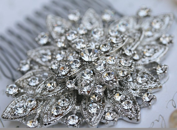 Rhinestone Hair Comb, Wedding