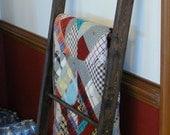 handmade wood quilt ladder