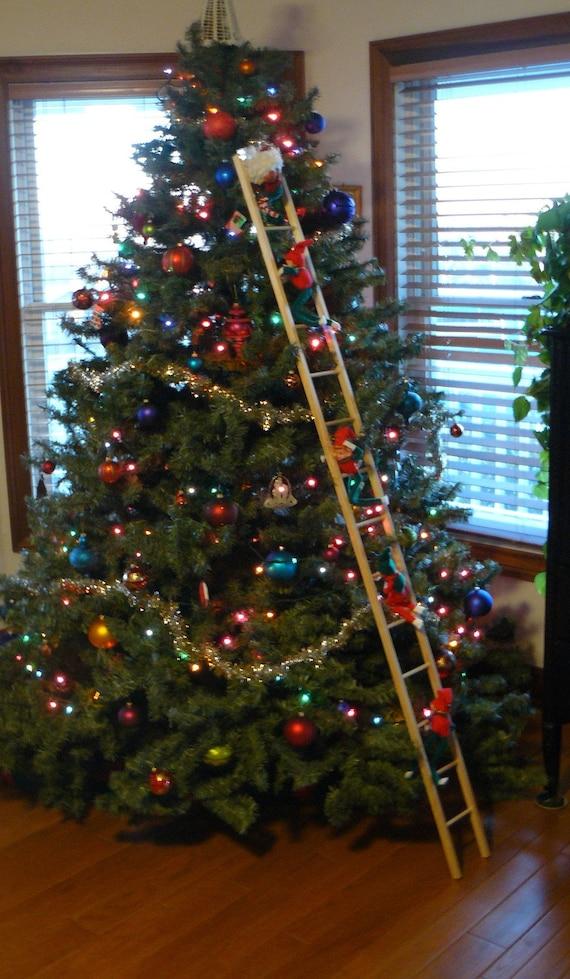 Christmas tree ladder by antiquesurveyor on Etsy