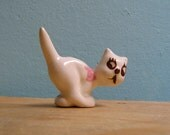 Vintage Ceramic Cat -- Wild-Eyed Kitten Running