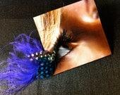 Purple Polka-Dot False Feather Eyelashes