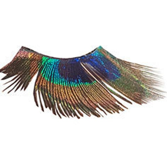 Full Peacock Eye Feather False Eyelashes