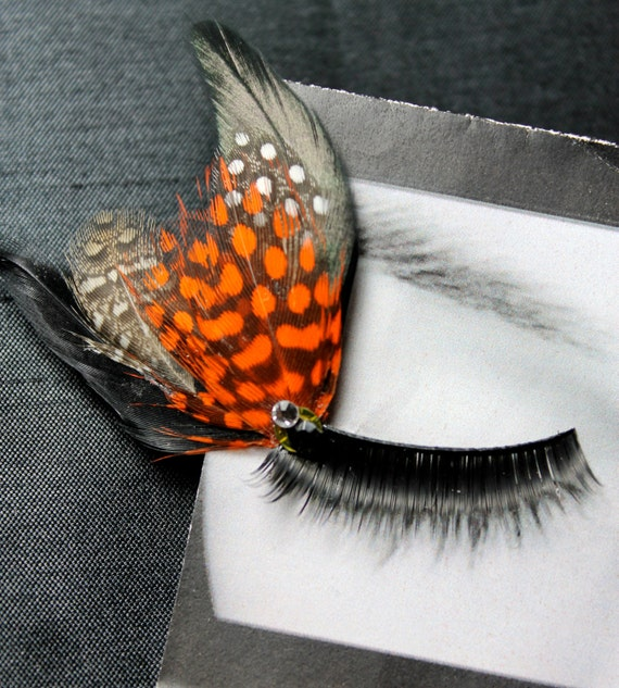 Monarch Butterfly Wing Feather False Eyelashes