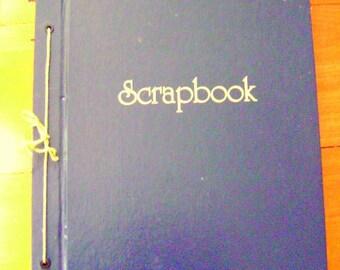 Vintage Large Size SCRAPBOOK ALBUM Navy Blue