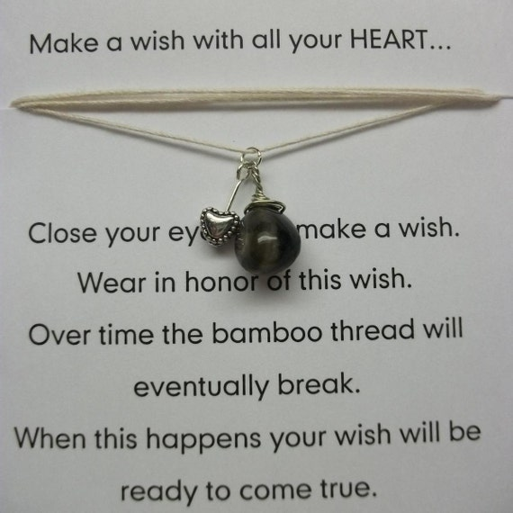 reserved for Chandra Wish Necklaces / Bracelets - Heart - Brown order and integrity