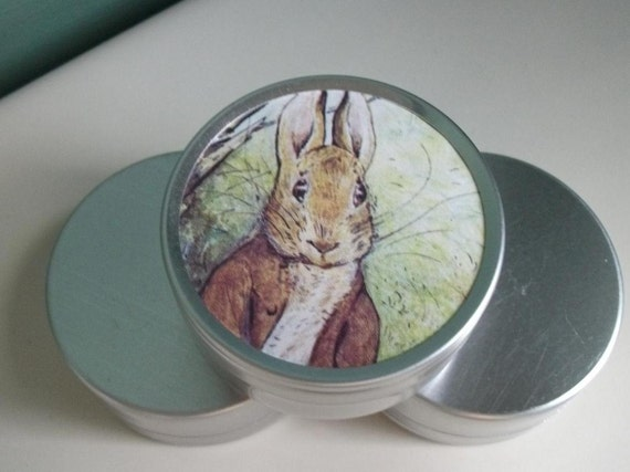 Beatrix Potter Tins with original vintage mages from the 1950's