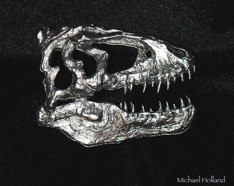 T. rex pewter dinosaur pin Tyrannosaurus rex