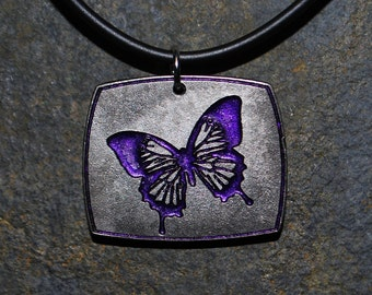 Pewter Butterfly Pendant Necklace