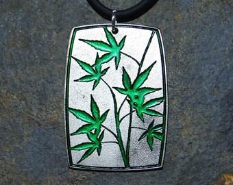 Pewter Maple Leaf Pendant