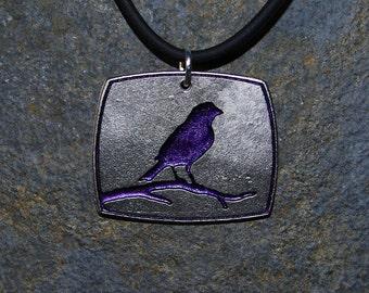 Pewter Bird Necklace Pendant