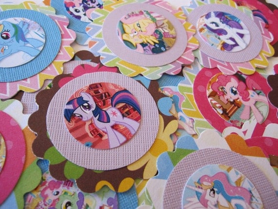 Clearance - My Little Pony Gift Tag/Favor Tag/Lunchbox Notes/Cupcake Toppers