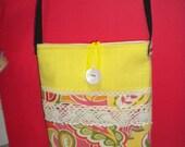 Sling and Simple Crossbody Bag/ Shoulder Bag / Travel Passport Bag/ or Kindle Purse Bag Pouch / Sling Bag
