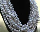 Vintage Multi-Strand Faux Pearl Chunky Necklace - Fall Fashion - Winter Dressy Jewelry - Costume Jewelry