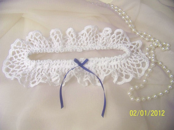 White Lacey Crochet Bridal/ Wedding Garter