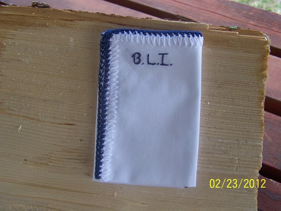 Men's Crochet Handkerchief/ Hanky / Pocket Square for Groom / Other colors and orders welcome