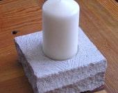 Indiana Limestone candle holder