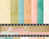 Retirement Sale - Soft Pastel Digital Backgrounds, Ooh La Lah Solid Papers, Shabby Chic Digital Papers, Instant Download Textures, Baby