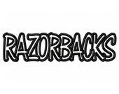 Instant Download Razorbacks Embroidery Machine Applique Design-570