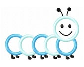 Instant Download Caterpillar Embroidery Machine Applique Design-539