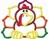Instant Download Turkey Embroidery Applique Design-842