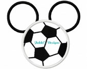Instant Download Soccerball Mouse Ears Embroidery Machine Applique Design-520