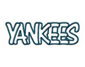Instant Download Yankees Embroidery Machine Applique Design-923