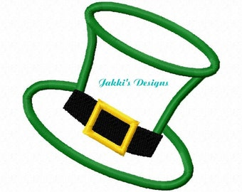 Instant Download Top Hat Embroidery Machine Applique Design-553