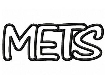 Instant Download Mets Embroidery Machine Applique Design-567