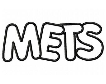Instant Download Mets Embroidery Machine Applique Design-560