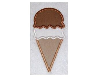Instant Download Ice Cream Cone Embroidery Machine Applique Design-600