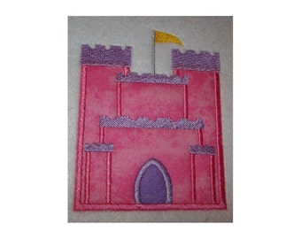 Instant Download Castle Embroidery Machine Applique Design-660