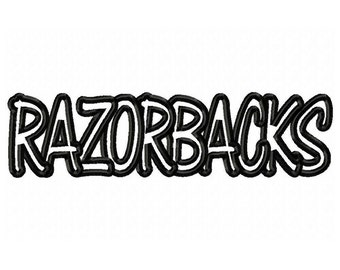 Instant Download Razorbacks Embroidery Machine Applique Design-570